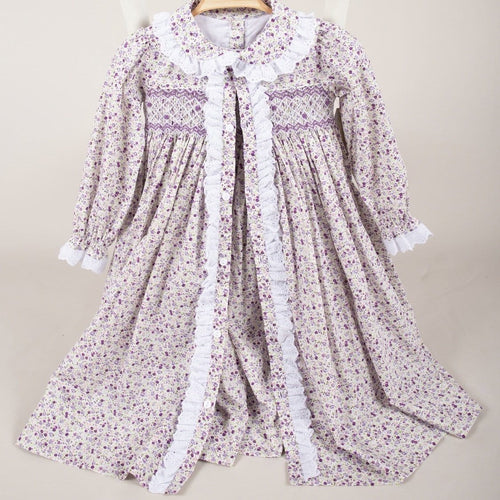 CARAMELO KIDS LILAC GOWN & MATCHING NIGHT DRESS