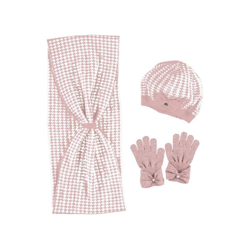MAYORAL PINK HAT & SCARF WITH GLOVES SET