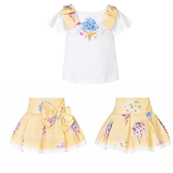 BALLOON CHIC - Ice Cream Skirt Set - Yellow