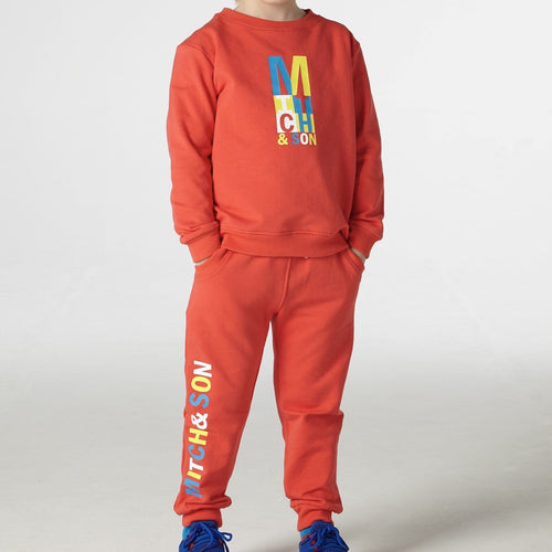 MITCH & SON - Red Logo Tracksuit - Red