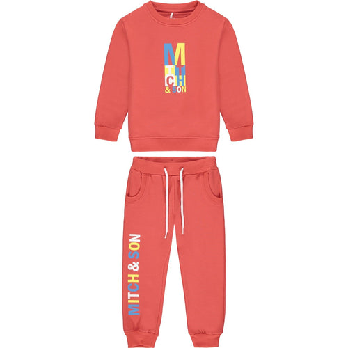 MITCH & SON RED LOGO TRACKSUIT MS21203 CANDLERIGGS