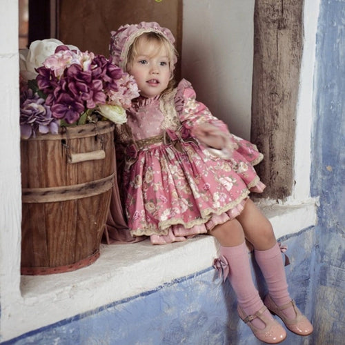 LA AMAPOLA LOVELY PINK BABY DRESS