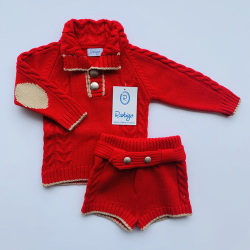 RAHIGO  ARTHUR RED TWO PIECE SET