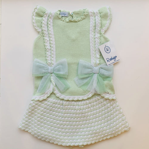 RAHIGO MINT / WHITE VALENTINA  TWO PIECE SET