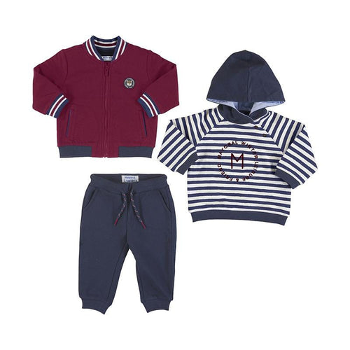 MAYORAL TODDLER  BORDEAUX 2 TOP TRACKSUIT