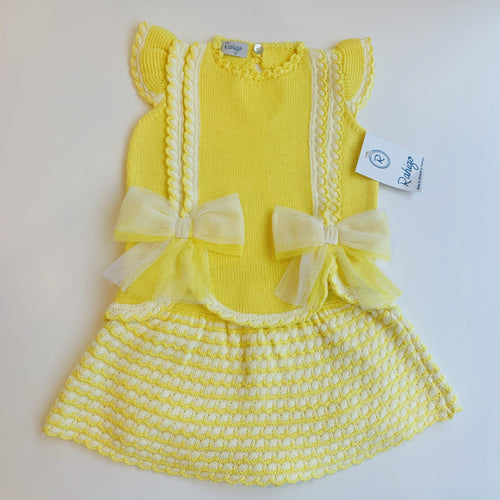 RAHIGO YELLOW / WHITE VALENTINA  TWO PIECE SET