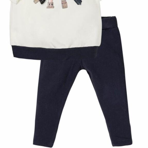EMC LIPSTICK TOP & NAVY LEGGINGS