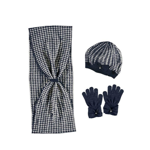 MAYORAL NAVY HAT & SCARF WITH GLOVES SET