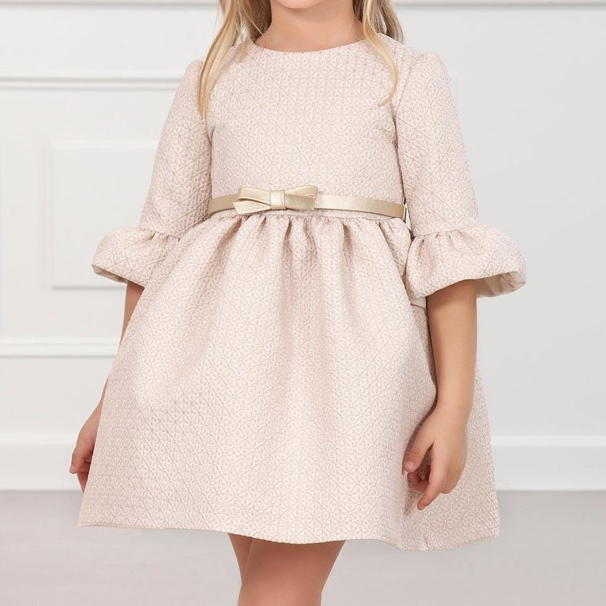 ABEL & LULA LIGHT PINK JACQUARD DRESS