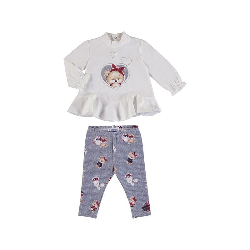 MAYORAL TODDLER TEDDY LEGGING SET