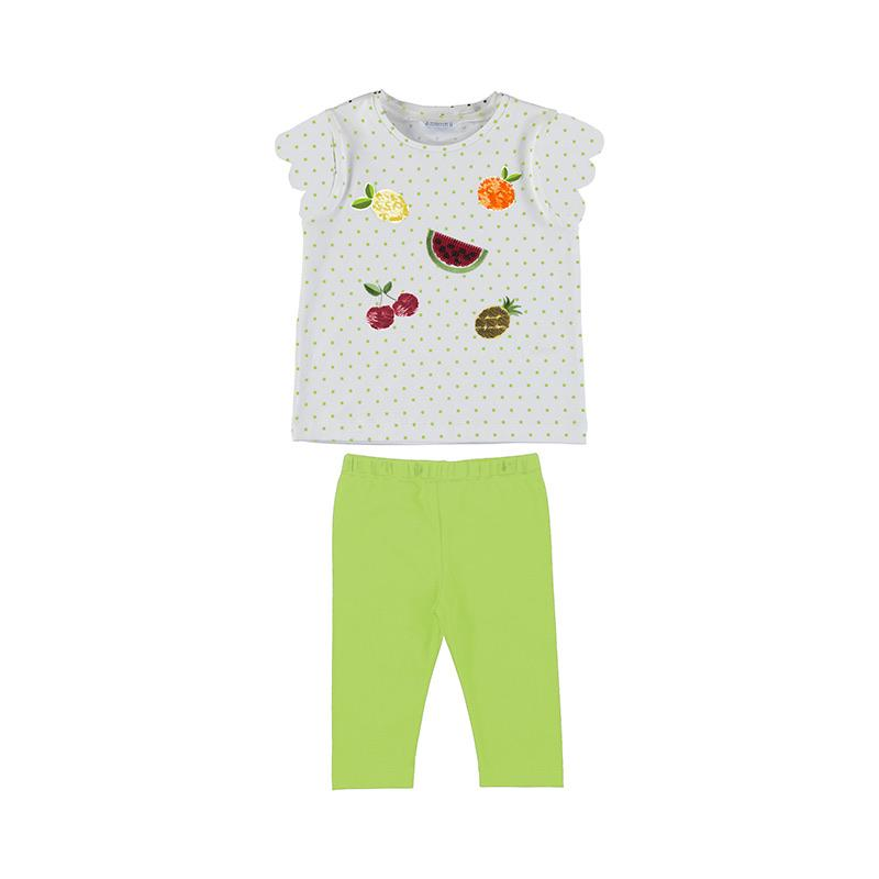 Mayoral - Fruit Top & Legging Set - Lime