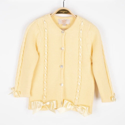 CARAMELO KIDS LEMON CARDIGAN