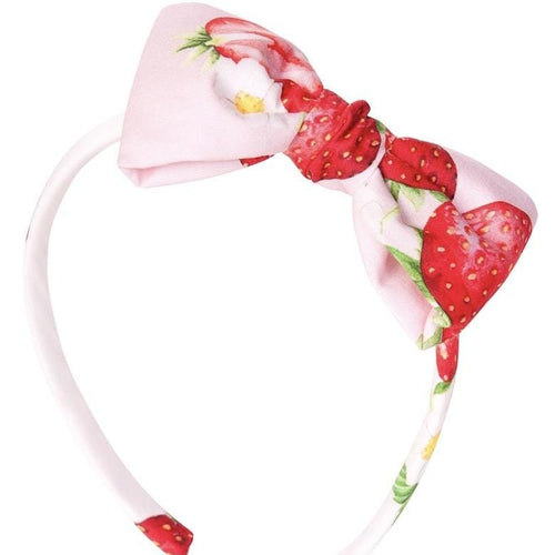 BALLOON CHIC - Strawberry Print Hairband - Pink