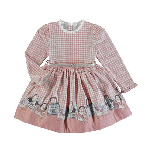 PREORDER MAYORAL BLUSH BELTED DRESS