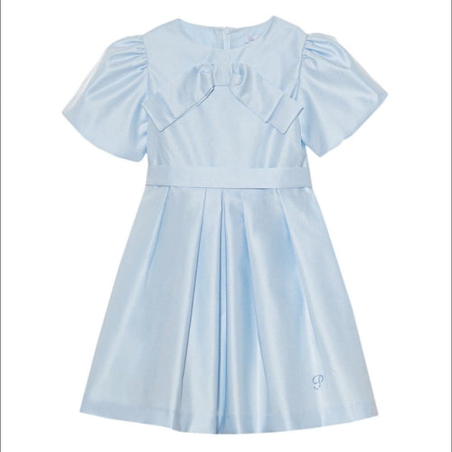 PATACHOU BABY BLUE SATIN DRESS