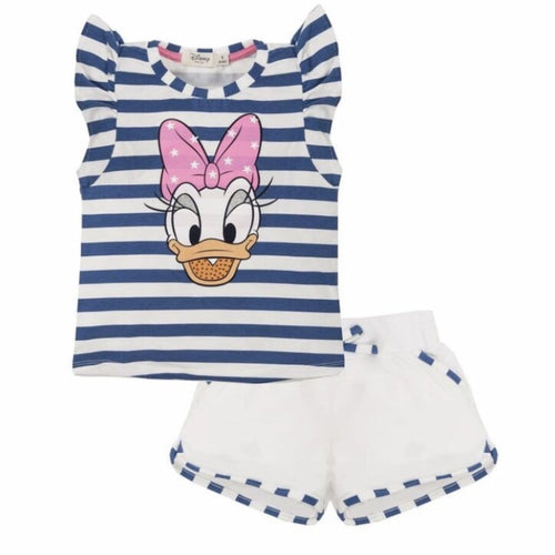 EVERYTHING MUST CHANGE DISNEY DAISY DUCK STRIPE TOP & SHORTS