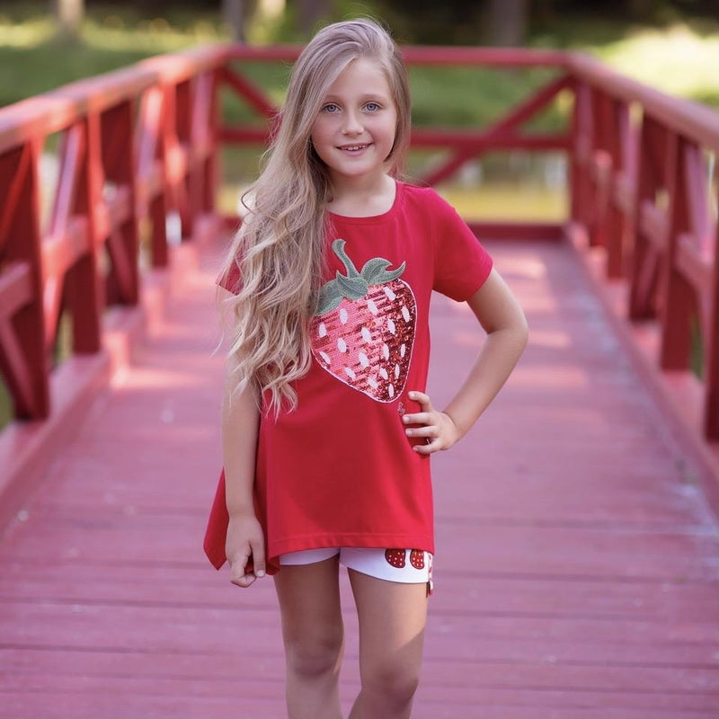 DAGA - Strawberry Tunic Short Set