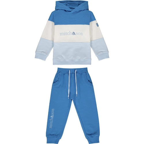 PRE ORDER MITCH & SON BLOCK BRILLIANT BLUE HOODY TRACKSUIT MS1433 DIEGO