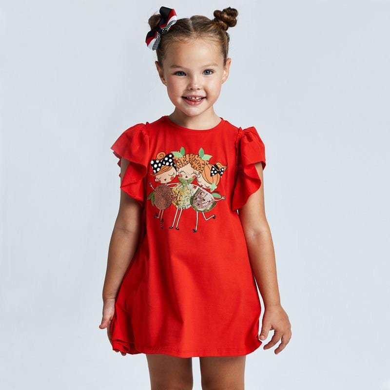 MAYORAL SS21 RED FRUIT DRESS