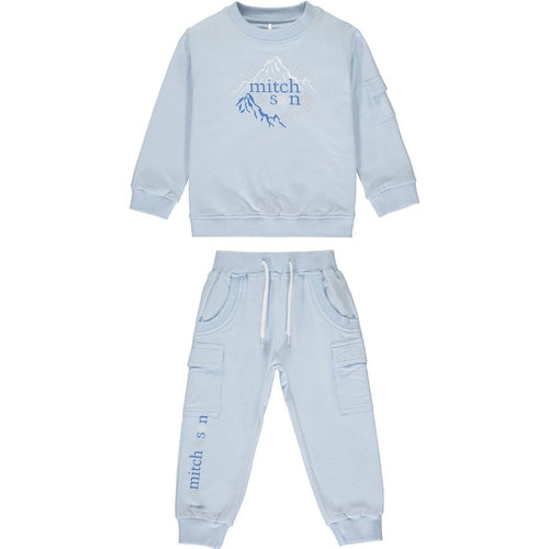 PRE ORDER MITCH & SON EXPLORE PALE BLUE TRACKSUIT MS1434 MAXWELL