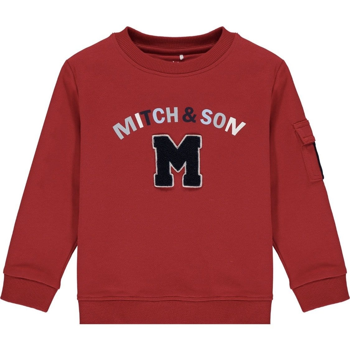 MITCH & SON CHILLI RED LOOP BACK TRACKSUIT MS1451 CONNOR