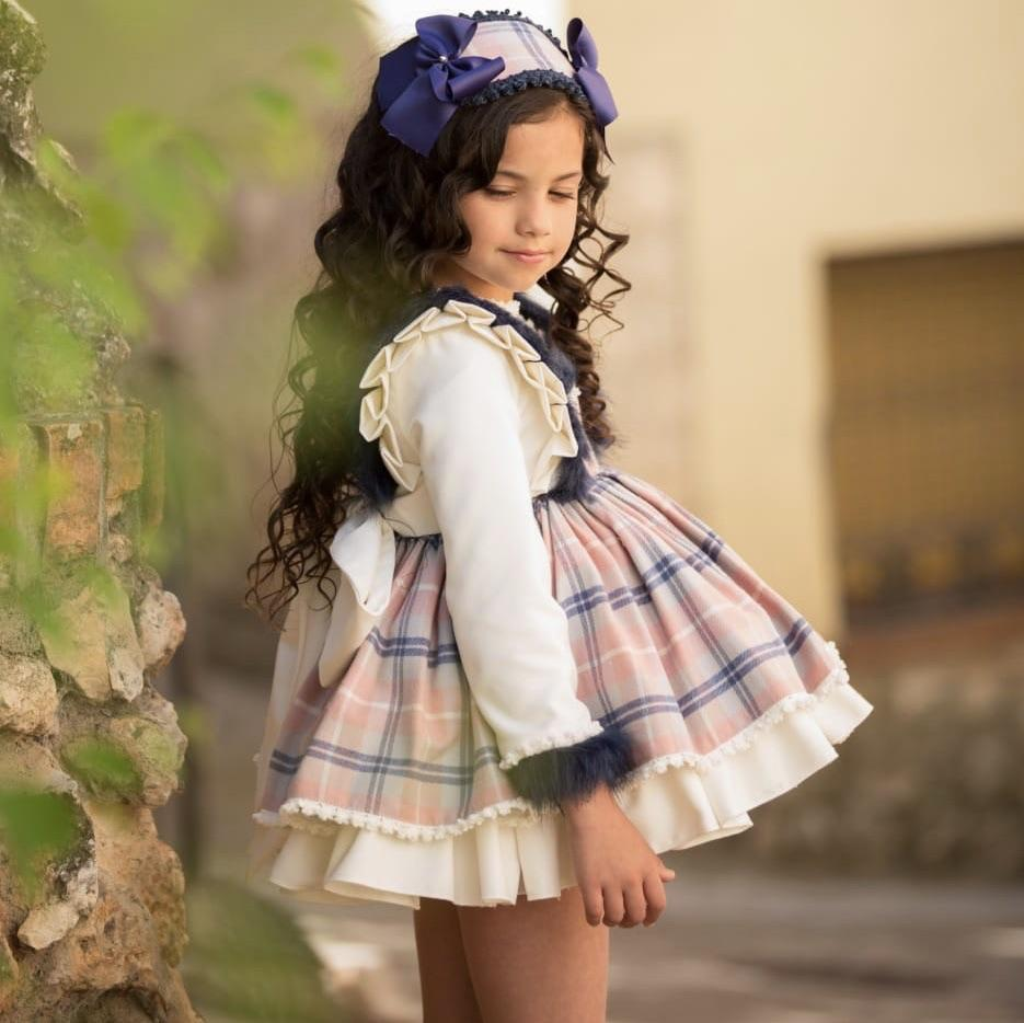 MERICHE ISABELLE PUFFBALL DRESS & HAIRPIECE