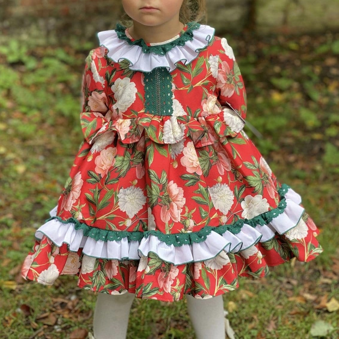 NINI  CHRISTMAS BABY DRESS & BONNET