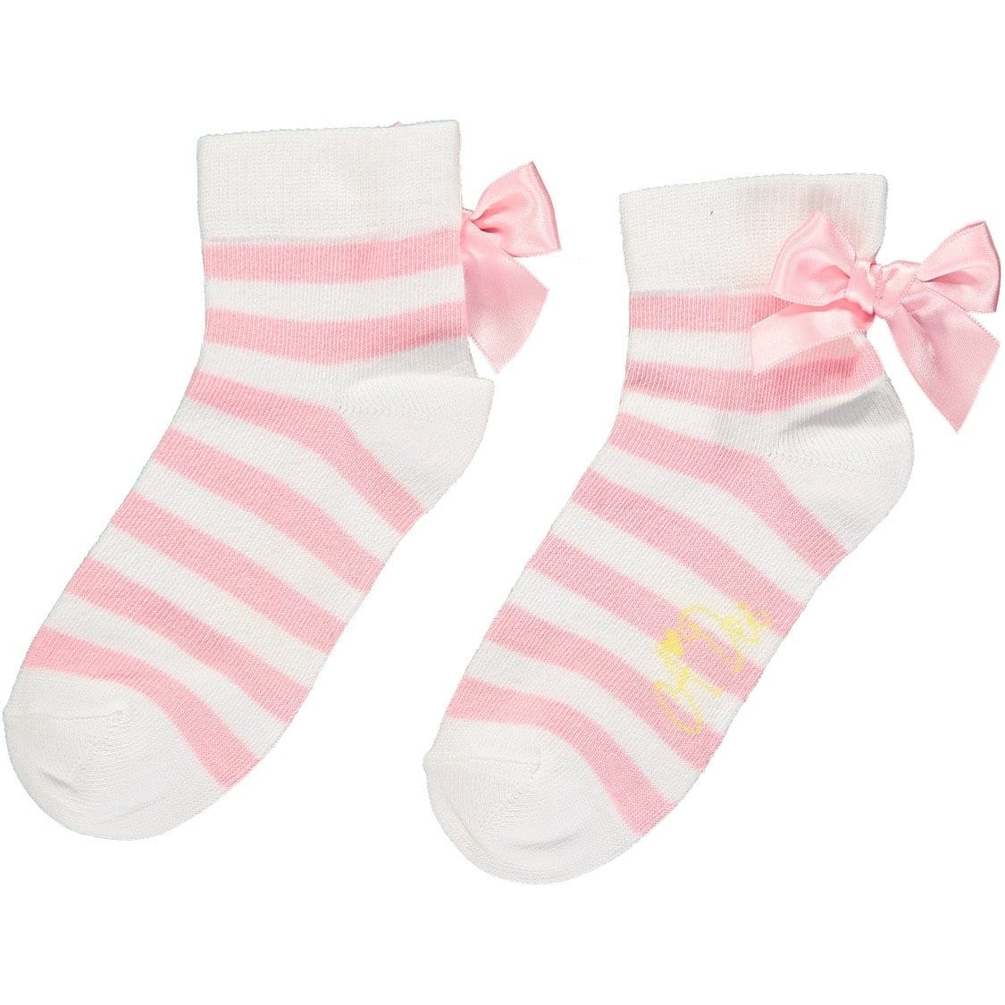 A DEE ROSE PINK STRIPE ANKLE SOCKS BEA S202919