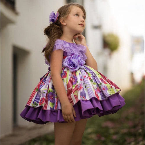PRE ORDER PANSY MERICHE PUFFBALL DRESS