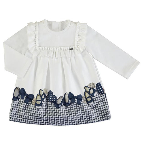 MAYORAL TODDLER NAVY SHOES JERSEY DRESS