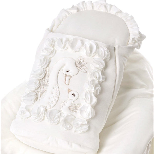 SOFIJA SWAN VELOUR CREAM BABY NEST