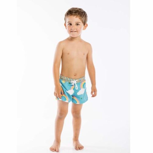 RAINBOW BOYS SWIM SHORTS