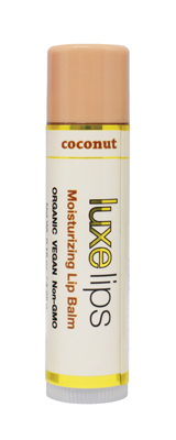 Beeswax Free, Nut Free Lip Balm - Luxe Lips - Coconut