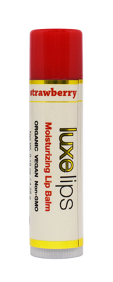 Beeswax Free Lip Balm - Luxe Lips - Strawberry