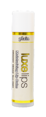 Beeswax Free Lip Balm - Luxe Lips- Plain