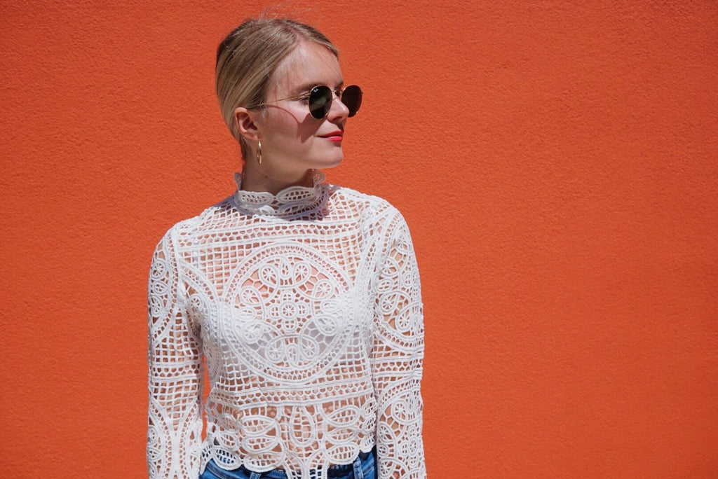 Buttercup lace crop blouse