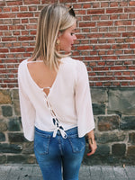 Daily romance open back blouse