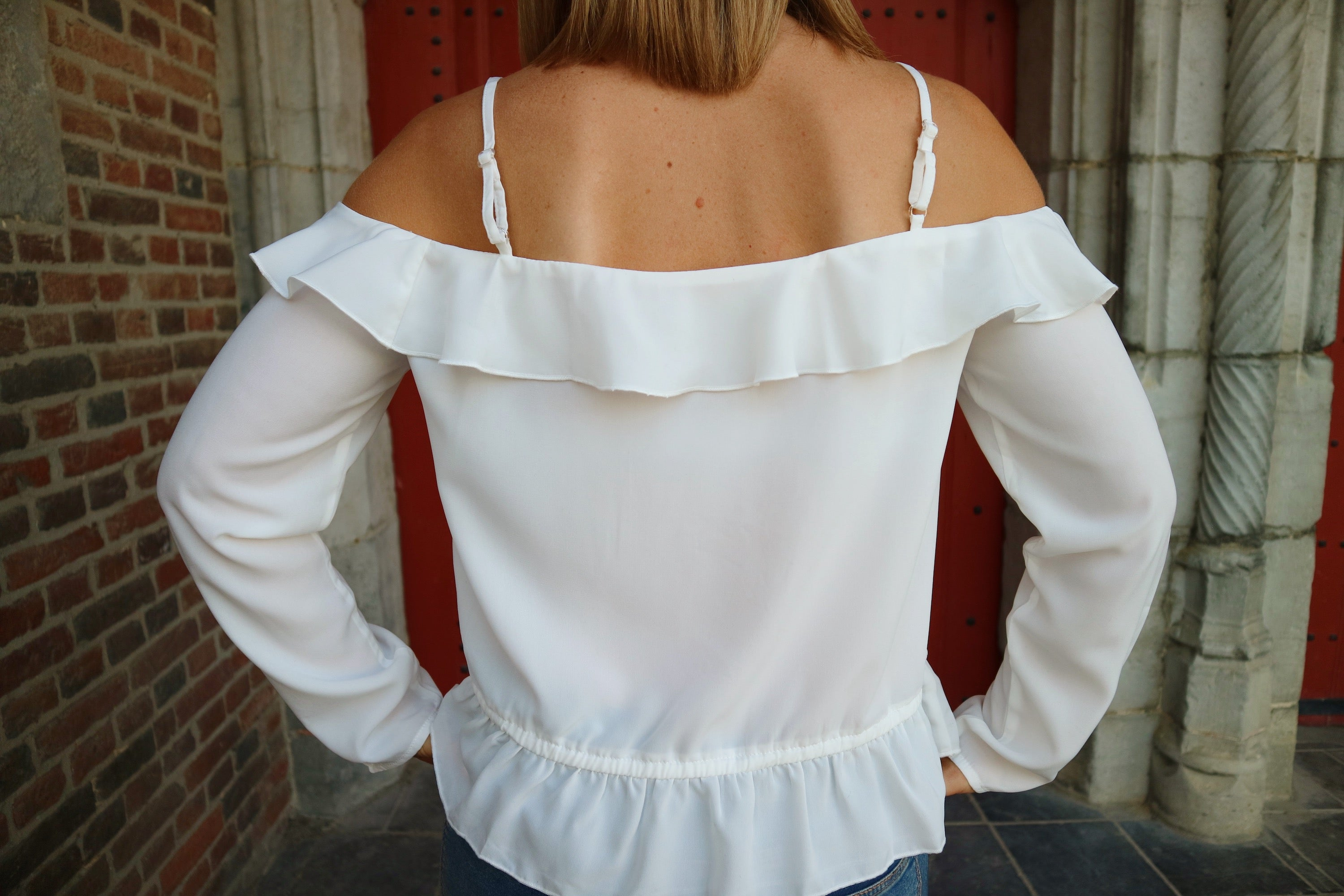 Sweet intentions off the shoulder blouse