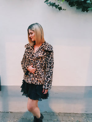 Meow or never relaxed faux fur coat