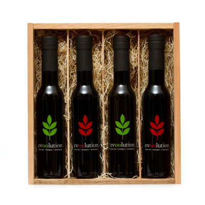 Evoolution Four Bottle Custom Cedar Gift Box