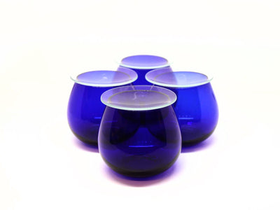 Blue Glass Tulip Cup