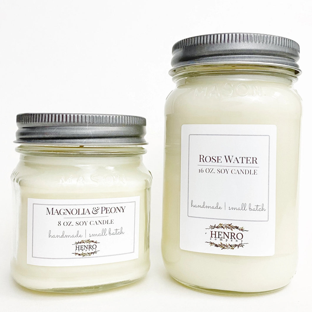 Mason Jar Natural Soy Candles | Hand Poured | Small Batch