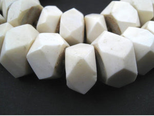 White Bone Beads - Handmade