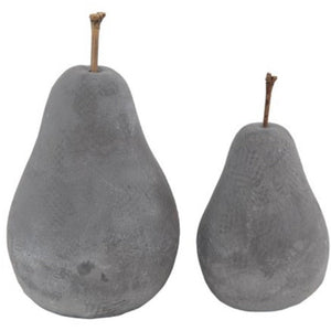 Decorative Cement Pears / set of 2