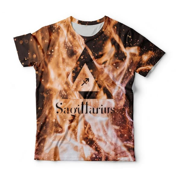Sagittarius In The Flames T-shirts