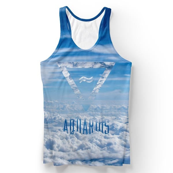 Aquarius In The Sky Tank Top