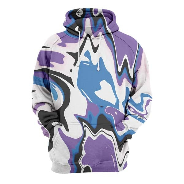 Abstract Purple Liquid Hoodie