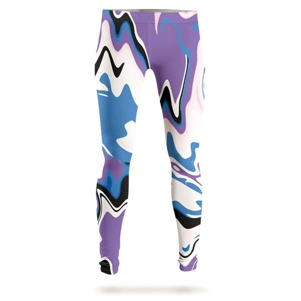 Abstract Purple Liquid Leggings
