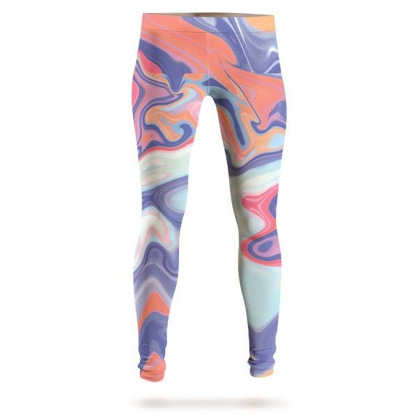 Abstract Red Liquid Leggings