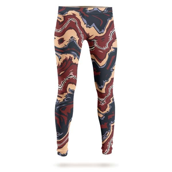 Abstract Brown Liquid Leggings